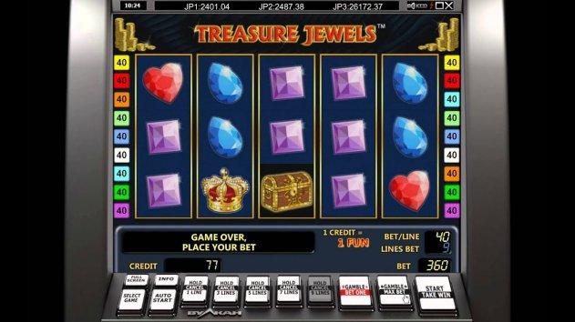 Популярные слоты из казино Вулкан: параметры игры Treasure Jewels