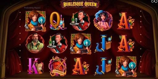 Бонусные функции и элементы управления в виртуальном аппарате Burlesque Queen
