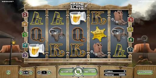 Специальные символы виртуального аппарата Dead or Alive из Rox Casino